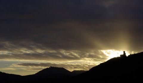 coucher de soleil sur l'Ortembourg
