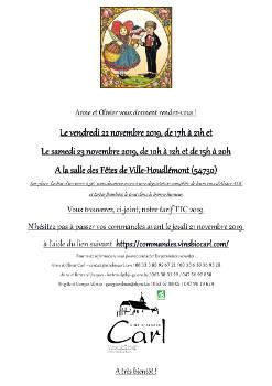 invitation dégustation Ville-Houdlémont vins Carl